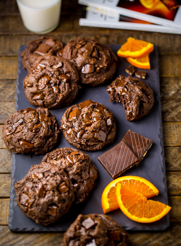 Gooey Chocolate Orange Brownie Cookies are insanely decadent and ...