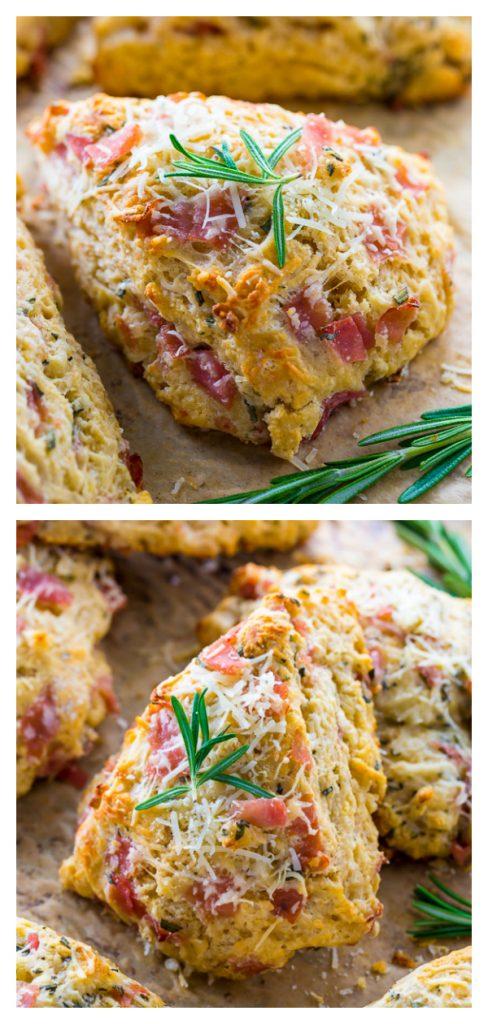 Rosemary Ham Parmesan Scones