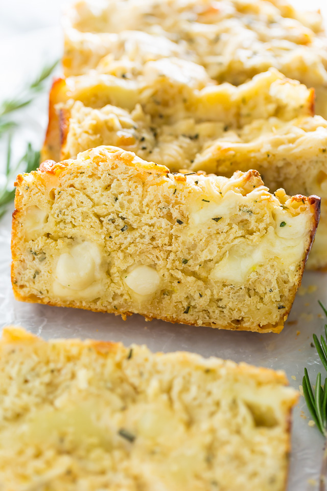 Ready in less than an hour, this Herbed Ricotta Cheesy Bread is sure to become a fast favorite!