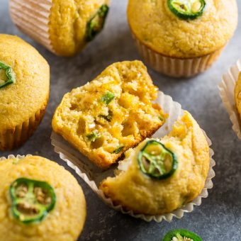 Honey Jalapeno Cornbread Muffins are sweet, just a little but spicy, and SO flavorful!