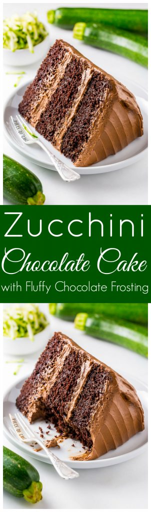 This Chocolate Zucchini Cake is moist, rich, and topped with fluffy chocolate frosting!
