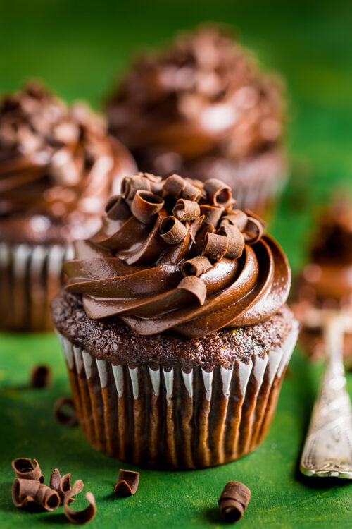 Rich and decadent Zucchini Chocolate Cupcakes! A MUST bake this Summer.