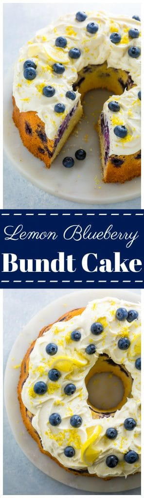 Lemon Blueberry Bundt Cake... Aka how to use up your abundance of blueberries this Summer!!!
