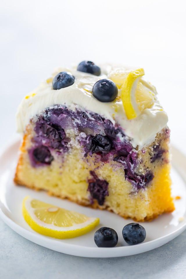 Lemon Blueberry Bundt Cake... Aka how to use up your abundance of blueberries this Summer!!!
