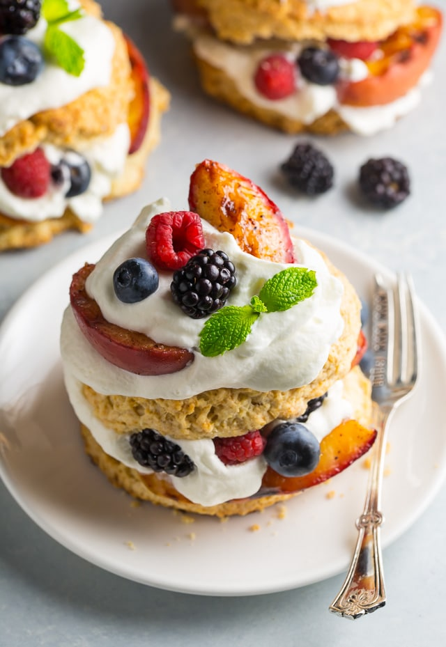 Grilled Peach and Mixed Berry Shortcakes with Fresh ...