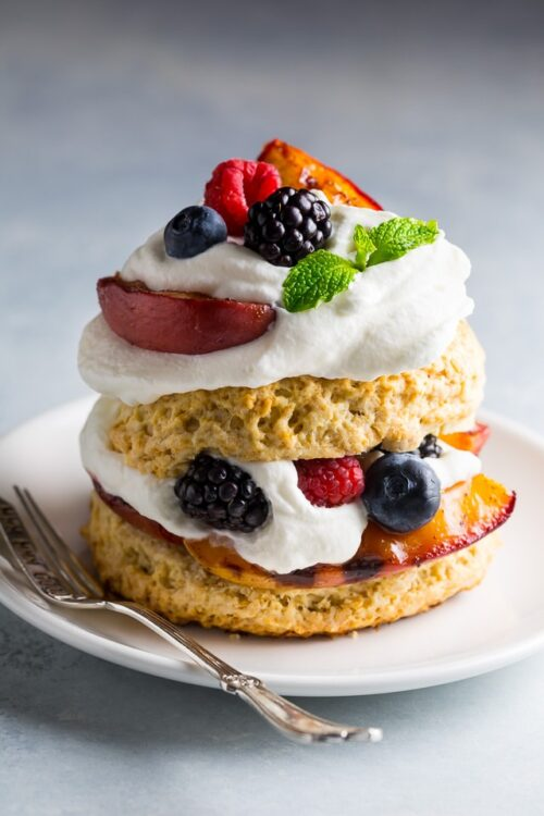 Grilled Peach and Mixed Berry Shortcakes are the ULTIMATE Summer dessert!