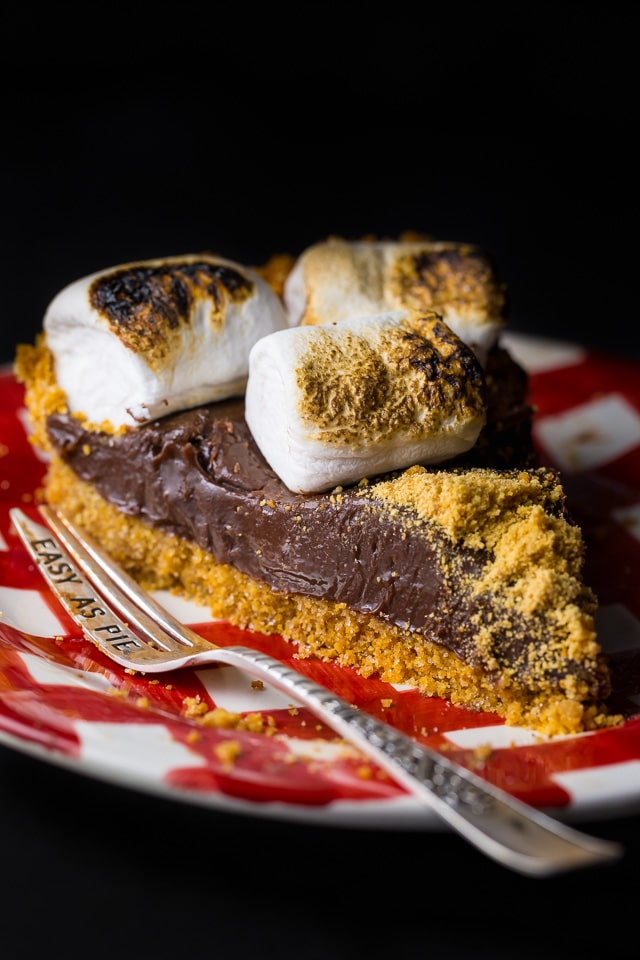 If you like S'mores, you'll love this decadent S'mores Pie!