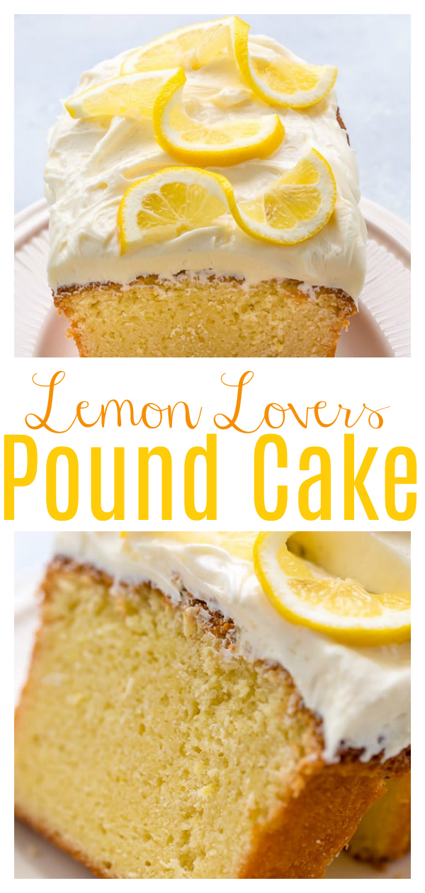 My homemade Lemon Pound Cake with Lemon Cream Cheese Frosting is dense yet moist - and bursting with flavor!