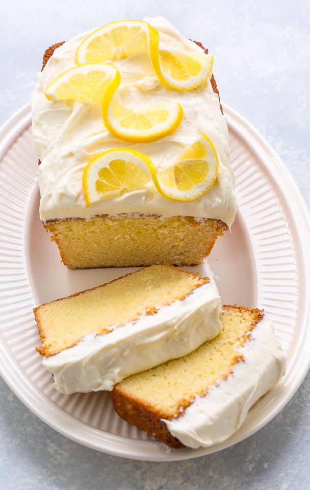 This Super Lemon Pound Cake With Cream Cheese Frosting Is Dense Yet Moist And