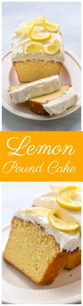 This super Lemon Pound Cake with Lemon Cream Cheese Frosting is dense yet moist - and bursting with flavor!