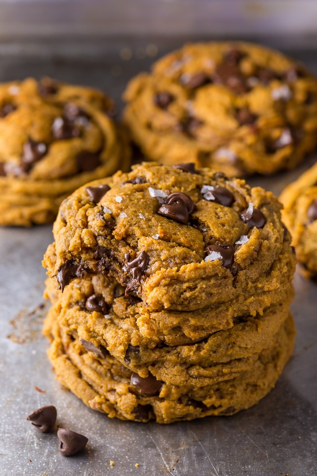 Say hello to the BEST Vegan Pumpkin Chocolate Chip Cookies ever!