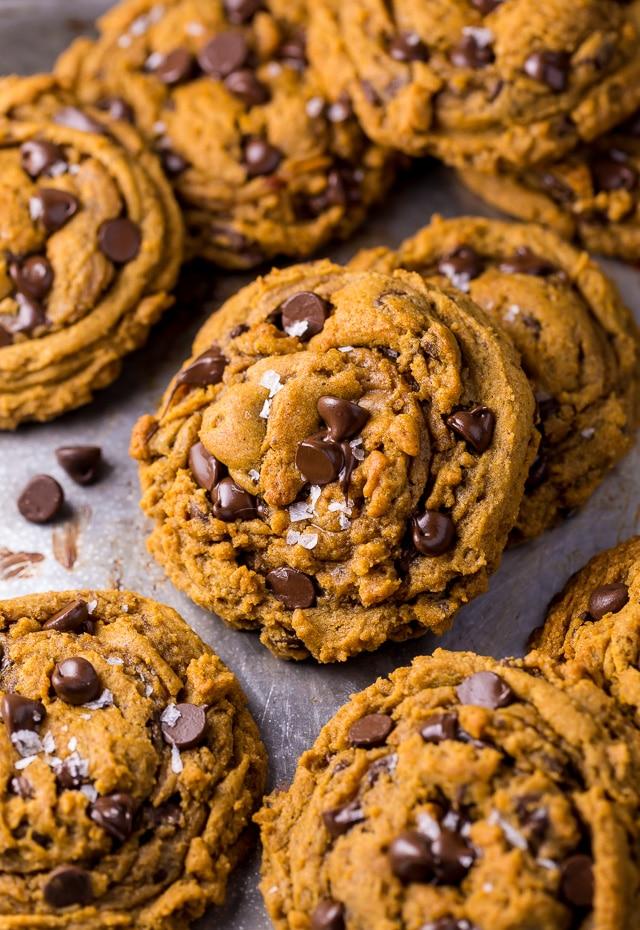 Easy Vegan Pumpkin Chocolate Chip Cookies