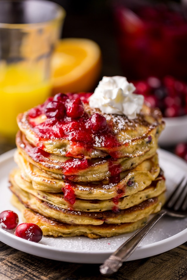 cranberry orange pancakes baker by nature