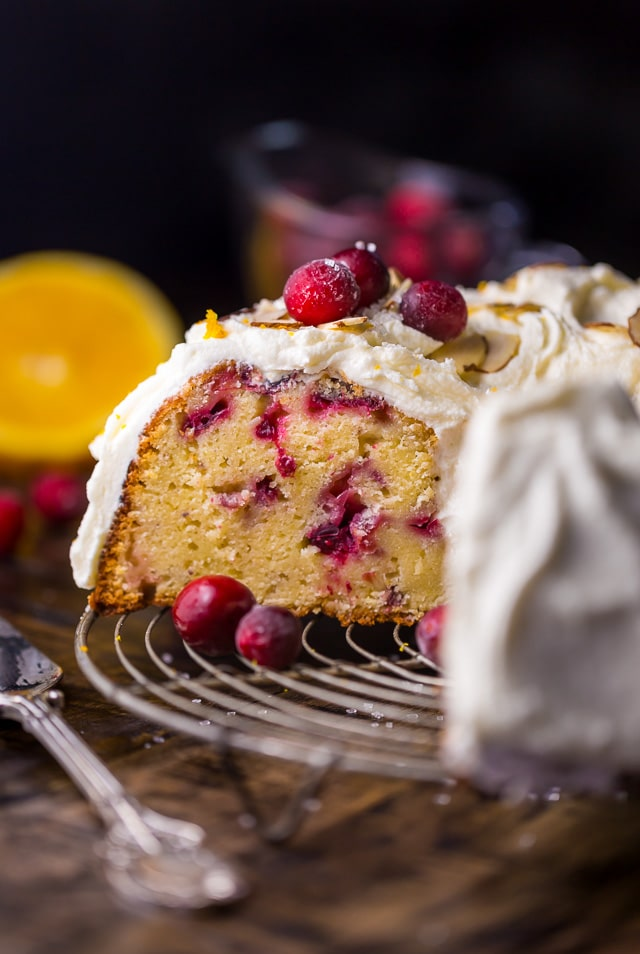 This White Chocolate Cranberry Bundt Cake is so festive and perfect for celebrating the holiday season!