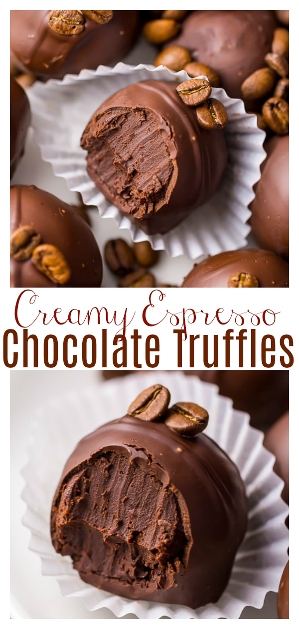 Rich, creamy, and caffeinated, these 5-Ingredient Espresso Chocolate Truffles are a coffee lovers dream come true! They make a great gift for chocolate lovers!