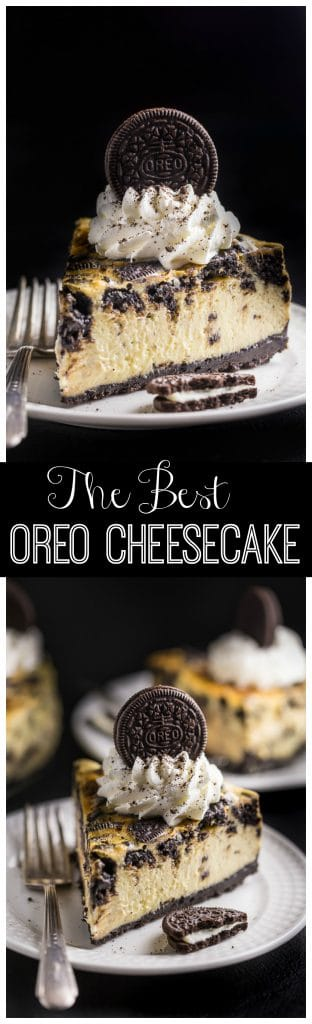 This ULTRA thick rich and creamy New York-Style Oreo Cheesecake is so satisfying and surprisingly simple to bake!