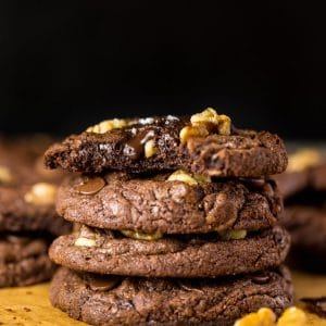 These Triple Chocolate Brownie Cookies are SO decadent!