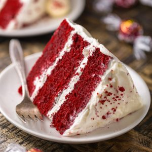 Moist and flavorful, this White Chocolate Red Velvet Truffle Cake is equally beautiful and delicious!