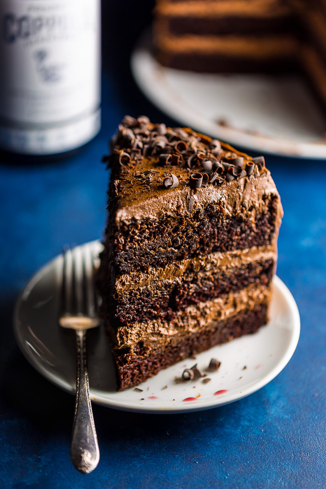 Supremely moist and flavorful, this Red Wine Chocolate Cake is perfect for special occasions!