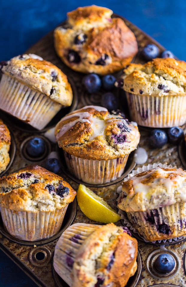 blueberry lemon poppy seed muffins baker by nature