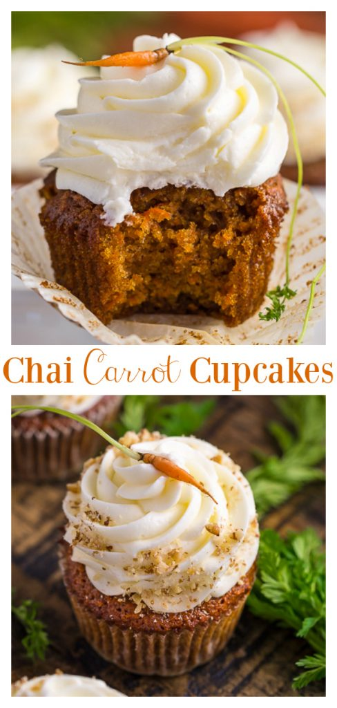 Chai Spice Carrot Cake Cupcakes
