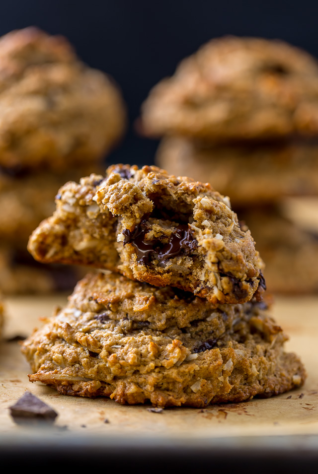 Chocolate Coconut Banana Bread Breakfast Cookies are so delicious and perfect with a cup of coffee!