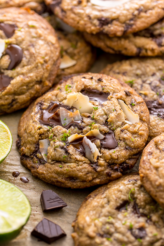 Mmm... these coconut key lime chocolate chunk cookies are SO flavorful! Sure to be a new favorite!