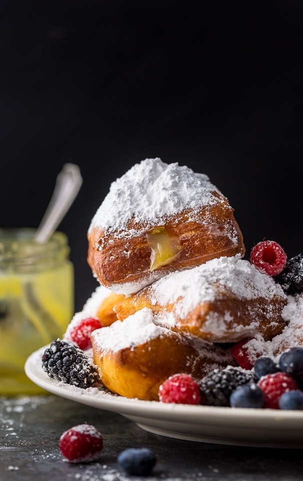 So light and airy, these Lemon Beignets with Fresh Berries are surprisingly easy and perfect for Summer!