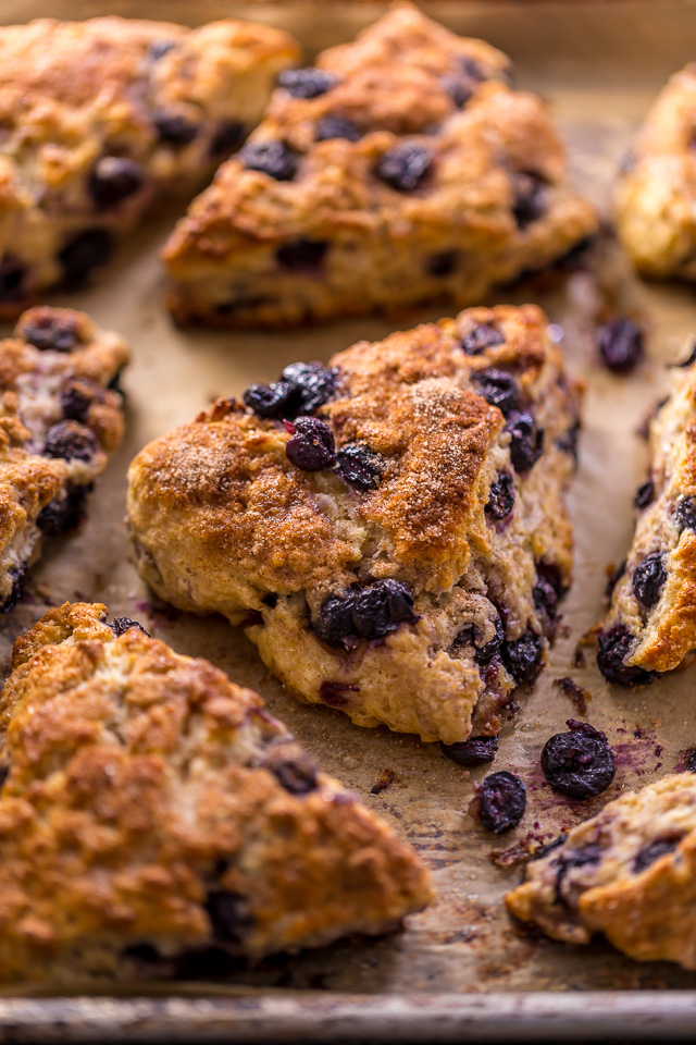 Mmm... these Blueberry Snickerdoodle Scones are so flavorful and perfect for brunch!
