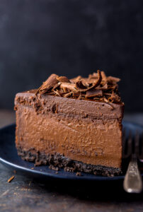 Rich, creamy, and supremely flavorful, this is the ULTIMATE Chocolate Cheesecake! The best part? It's so easy to make and freezer friendly!