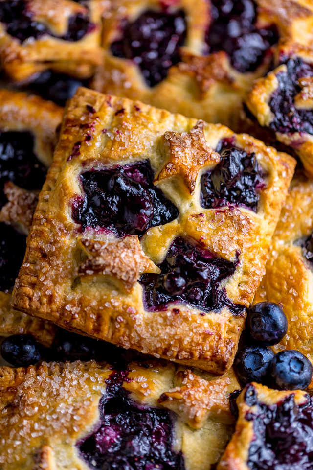 These Blueberry Bourbon Hand Pies are so easy and a total showstopper! You have to try them this Summer!