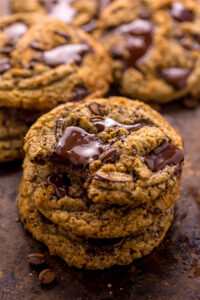 These Coffee Cardamom Chocolate Chunk Cookies are thick, chewy, and so flavorful! The best part is they're freezer friendly!!!