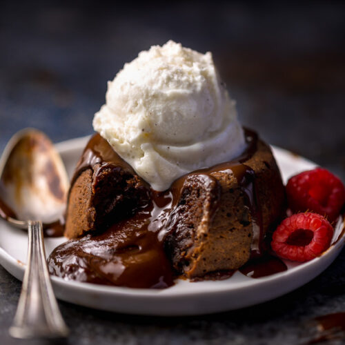 Grand Marnier Molten Chocolate Cakes are rich, decadent, and so delicious! And you won't believe how easy they are to make!