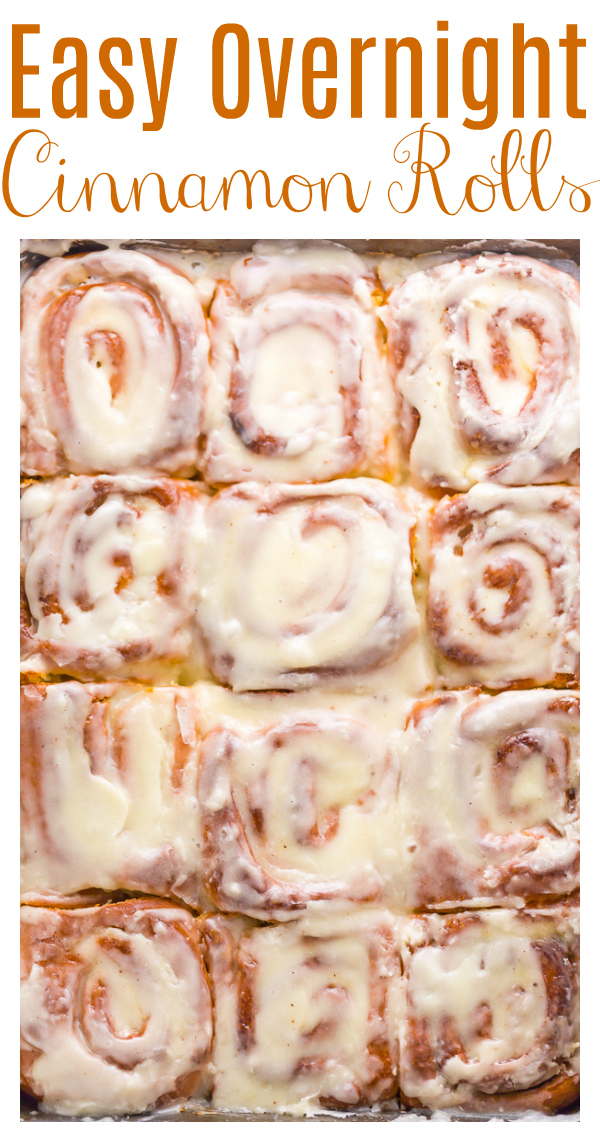 Say hello to the BEST Easy Overnight Cinnamon Rolls! We make these for decadent cinnamon rolls every Christmas morning and they basically fly out of the baking tray. So fluffy and delicious you'll want to make them every weekend!
