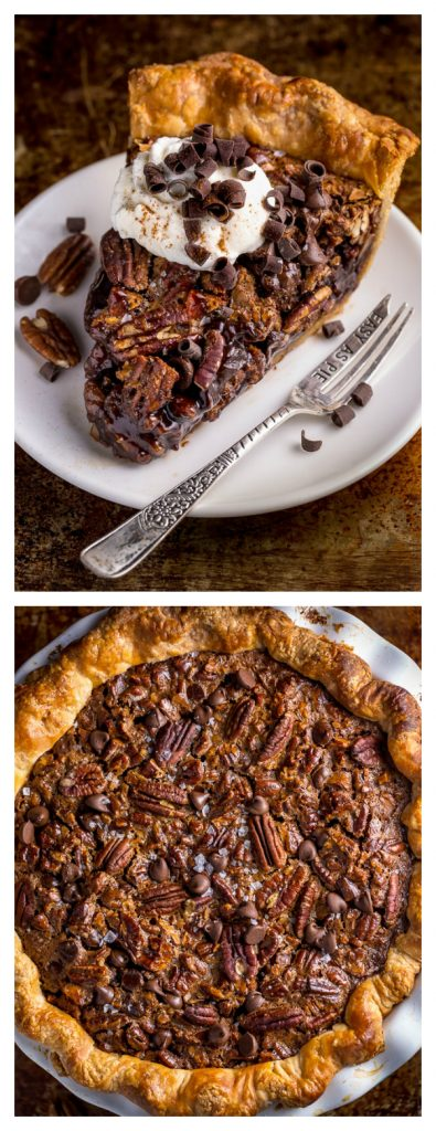 Mom's Best CHOCOLATE Pecan Pie! Gooey and delicious, this one is a winner! #chocolate #pecan #pie #Thanksgiving
