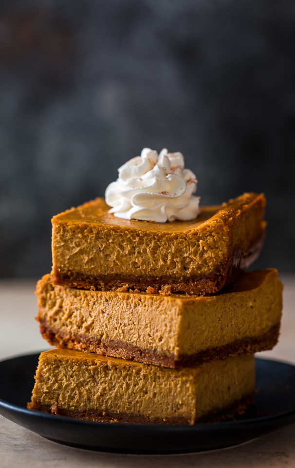 Pumpkin Pie Cheesecake Bars Baker By Nature