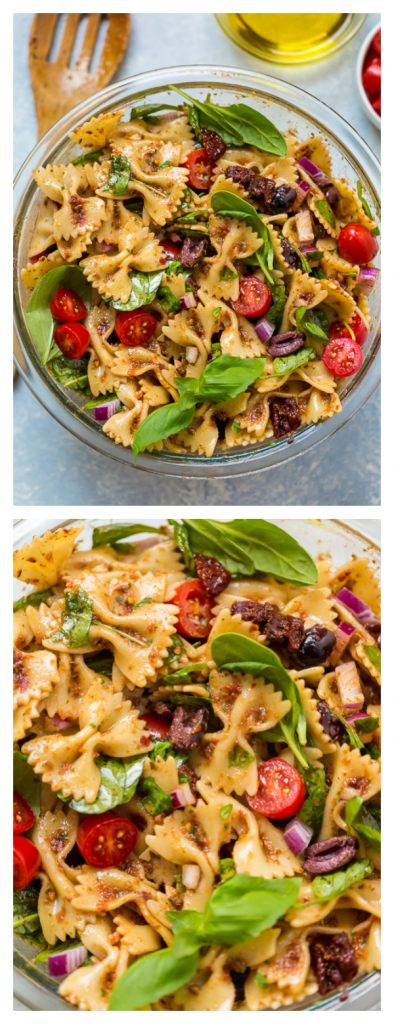 The best VEGAN Pasta Salad I've ever had! So flavorful and really easy. Whole family loved it! #vegan #pasta #salad #dinner