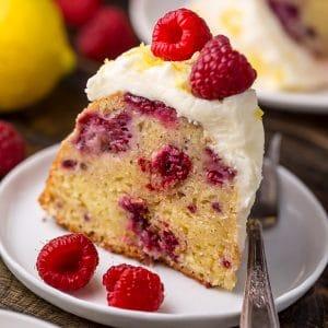Moist and sunshiny sweet, this Lemon Raspberry Bundt Cake is so perfect for Easter or Mother's Day brunch! Loaded with fresh lemon zest, lemon juice, and raspberries, this cake is loaded with flavor. Perfect for breakfast, brunch, or dessert!