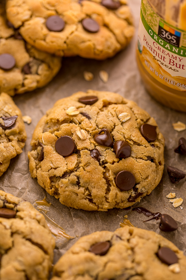 Peanut Butter Oatmeal Chocolate Chip Cookies Baker By Nature