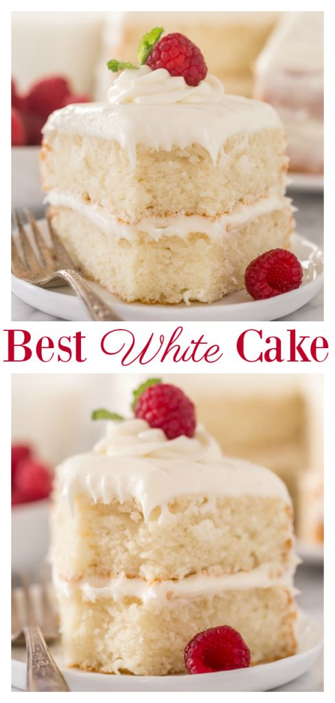 This is the BEST white cake recipe you'll ever bake!