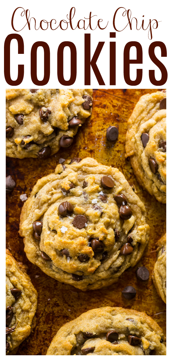 If you've been looking for the best vegan chocolate chip cookie recipe, your search is over! You don't have to refrigerate the dough, so you can just roll and bake. These vegan cookies bake up thick and chewy, with crisp edges!