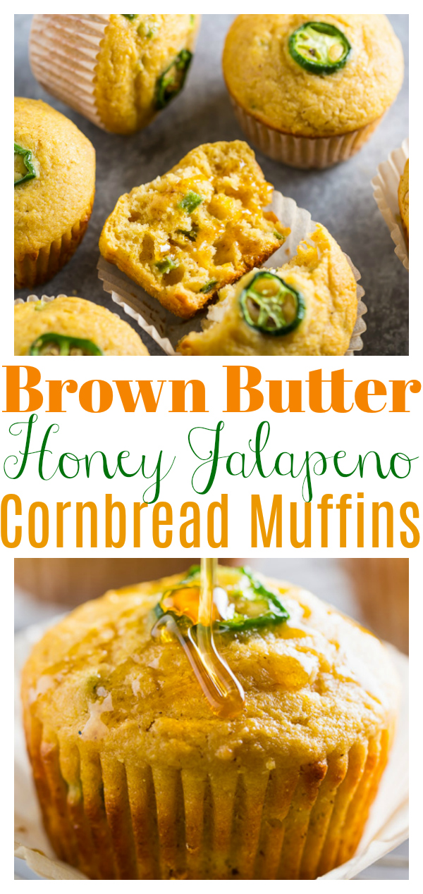 Honey Jalapeno Cornbread Muffins are sweet, just a little bit spicy, and SO flavorful! Pair these savory cornbread muffins with soup, chili, or barbecue! Always a hit!