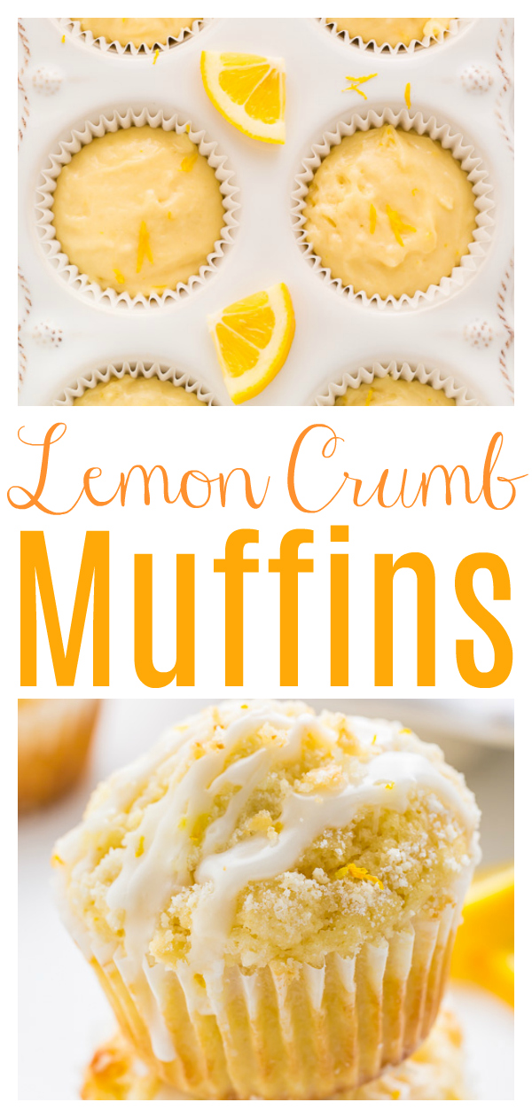Supremely moist Lemon Crumb Muffins topped with sticky Lemon Glaze! Lemon lovers will love these moist lemon muffins!!!