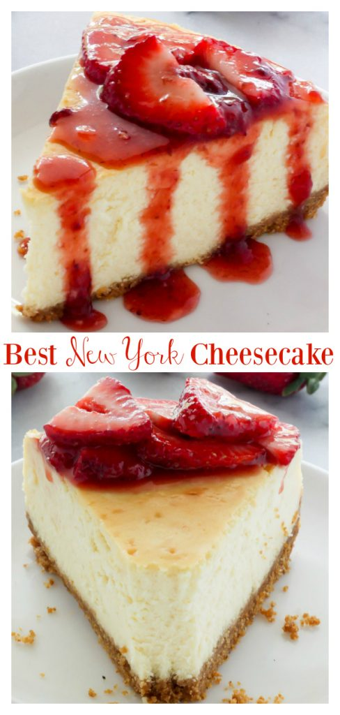 Rich and creamy, this is The Best New York-Style Cheesecake recipe around! Made with a graham cracker crust and an ultra creamy filling, this is sure to become one of your favorite cheesecake recipes. Serves a crowd!