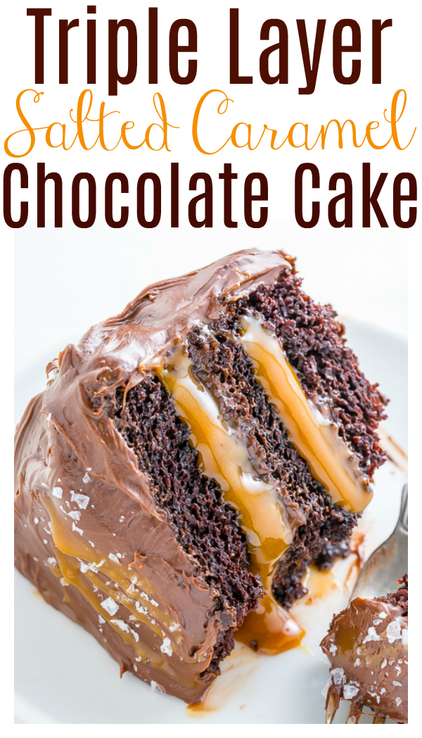 This Salted Caramel Chocolate Cake is moist and sinfully decadent! So if you love chocolate and caramel, you'll LOVE this easy recipe for how to make Chocolate Caramel Cake!