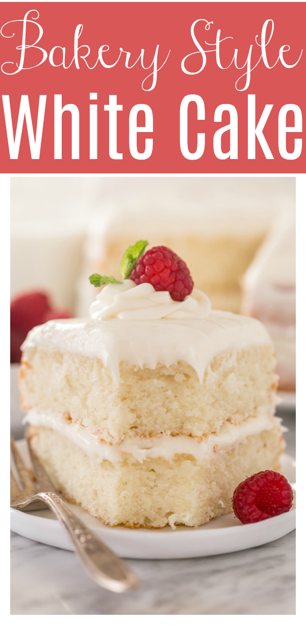This is the BEST white cake recipe you'll ever bake! Each slice is moist, fluffy, and so delicious. This tender snow white cake recipe is made completely from scratch and with simple ingredients!