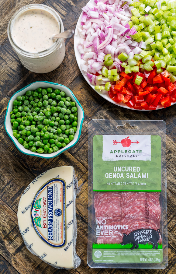 Ingredients for Italian Macaroni Salad