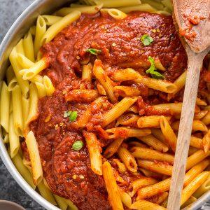 Penne with Spicy Arrabbiata Sauce
