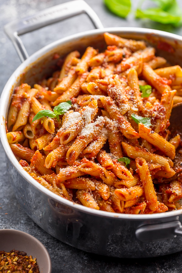 Penne Arrabbiata is spicy, saucy, and so easy! The combination of penne noodles, spicy tomato sauce, and parmesan cheese is simply irresistible. But the best part is this Italian pasta recipe is ready in about 20 minutes.