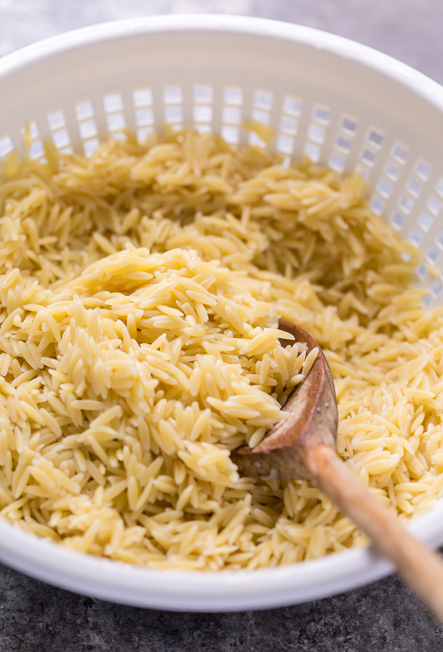 Cooked Orzo Pasta